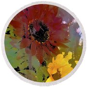 Sunflower 33 Round Beach Towel