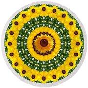 Sunflower Centerpiece Round Beach Towel