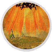 Sunflower Montage Round Beach Towel by Kathy Bassett