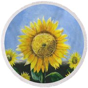 Sunflower Series One Round Beach Towel