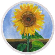Sunflower Series Two Round Beach Towel
