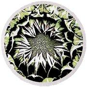 Round Beach Towel featuring the digital art Sunflower1 by Dragica  Micki Fortuna