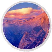 Sunlight Falling On A Mountain, Half Round Beach Towel by Panoramic Images