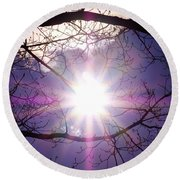 Round Beach Towel featuring the photograph Sunny Afternoon by Sherman Perry