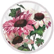 Round Beach Towel featuring the painting Sunny Delight by Barbara Jewell