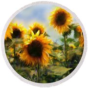 Sunny-side Up Round Beach Towel by Colleen Taylor