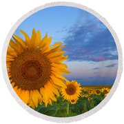 Sunny Side Up Round Beach Towel