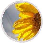 Sunny Sunflower Round Beach Towel by Cheryl Baxter