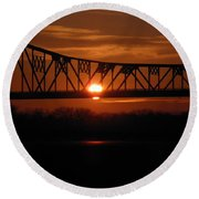 Sunrise Abridged Round Beach Towel