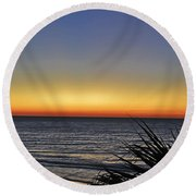 Sunrise At Folly Round Beach Towel