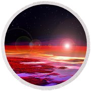 Round Beach Towel featuring the photograph Sunrise At Fourty Thousand  by Adam Olsen