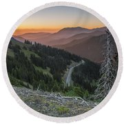 Sunrise At Hurricane Ridge - Sunrise Peak Round Beach Towel
