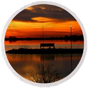 Sunrise At Jackson Round Beach Towel