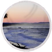 Sunrise At Pismo Beach Round Beach Towel