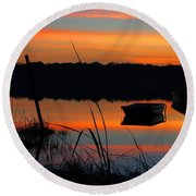 Round Beach Towel featuring the photograph Sunrise Cove  by Dianne Cowen