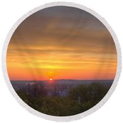 Round Beach Towel featuring the photograph Sunrise by Daniel Sheldon