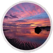 Round Beach Towel featuring the photograph Sunrise Drama by Dianne Cowen