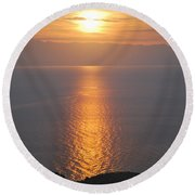 Sunrise Erikousa 1 Round Beach Towel