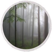 Sunrise Fog Round Beach Towel