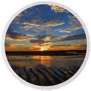 Round Beach Towel featuring the photograph Sunrise Glory by Dianne Cowen