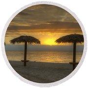 Sunrise Glory Round Beach Towel