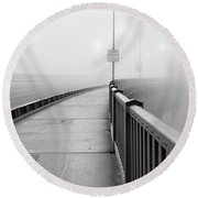 Sunrise Golden Gate Bridge Ca Usa Round Beach Towel