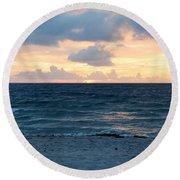 Round Beach Towel featuring the photograph Sunrise In Deerfield Beach by Rafael Salazar