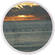Round Beach Towel featuring the photograph Sunrise In Florida Riviera by Rafael Salazar