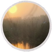Sunrise In The Everglades Round Beach Towel