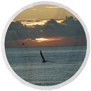 Round Beach Towel featuring the photograph Sunrise In The Florida Riviera by Rafael Salazar