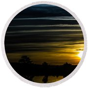 Round Beach Towel featuring the photograph Sunrise In Virginia by Angela DeFrias