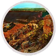 Sunrise Lipan Point Grand Canyon Round Beach Towel