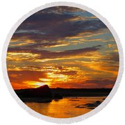 Round Beach Towel featuring the photograph Sunrise Magic by Dianne Cowen