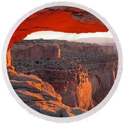 Sunrise Mesa Arch Canyonlands National Park Round Beach Towel
