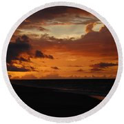 Round Beach Towel featuring the photograph Sunrise  by Mim White