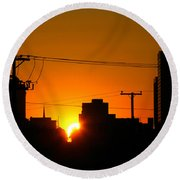 Sunrise -- My Columbia Seen Round Beach Towel