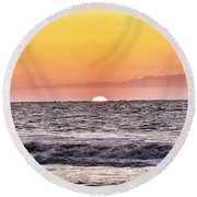 Sunrise Of The Mind Round Beach Towel