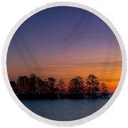 Sunrise On Lake Mattamuskeet Round Beach Towel