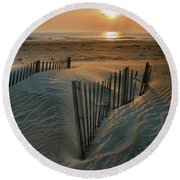 Sunrise Over Hatteras Round Beach Towel