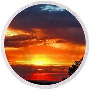 Sunrise Over Keystone Round Beach Towel