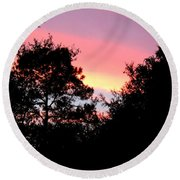 Sunrise Over Perry Round Beach Towel