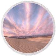 Sunrise Over Sand Dunes Round Beach Towel