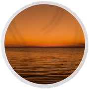 Round Beach Towel featuring the photograph Sunrise Over The Lake Of Two Mountains - Qc by Juergen Weiss