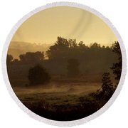 Sunrise Over The Mist Round Beach Towel