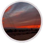 Sunrise Over Yuma Round Beach Towel