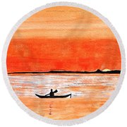 Sunrise Sail Round Beach Towel