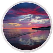 Round Beach Towel featuring the photograph Sunrise Sizzle by Dianne Cowen