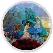 Sunrise Sonata Round Beach Towel