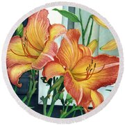 Sunrise-sunset Round Beach Towel