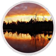 Sunrise Thanksgiving Morning Round Beach Towel